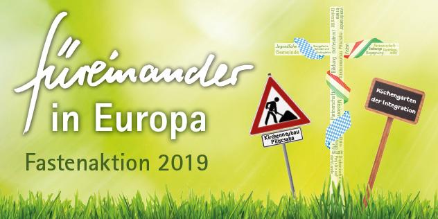 füreinander einstehen in Europa Fastenaktion Plakatmotiv 2019, Bild: © ELKB