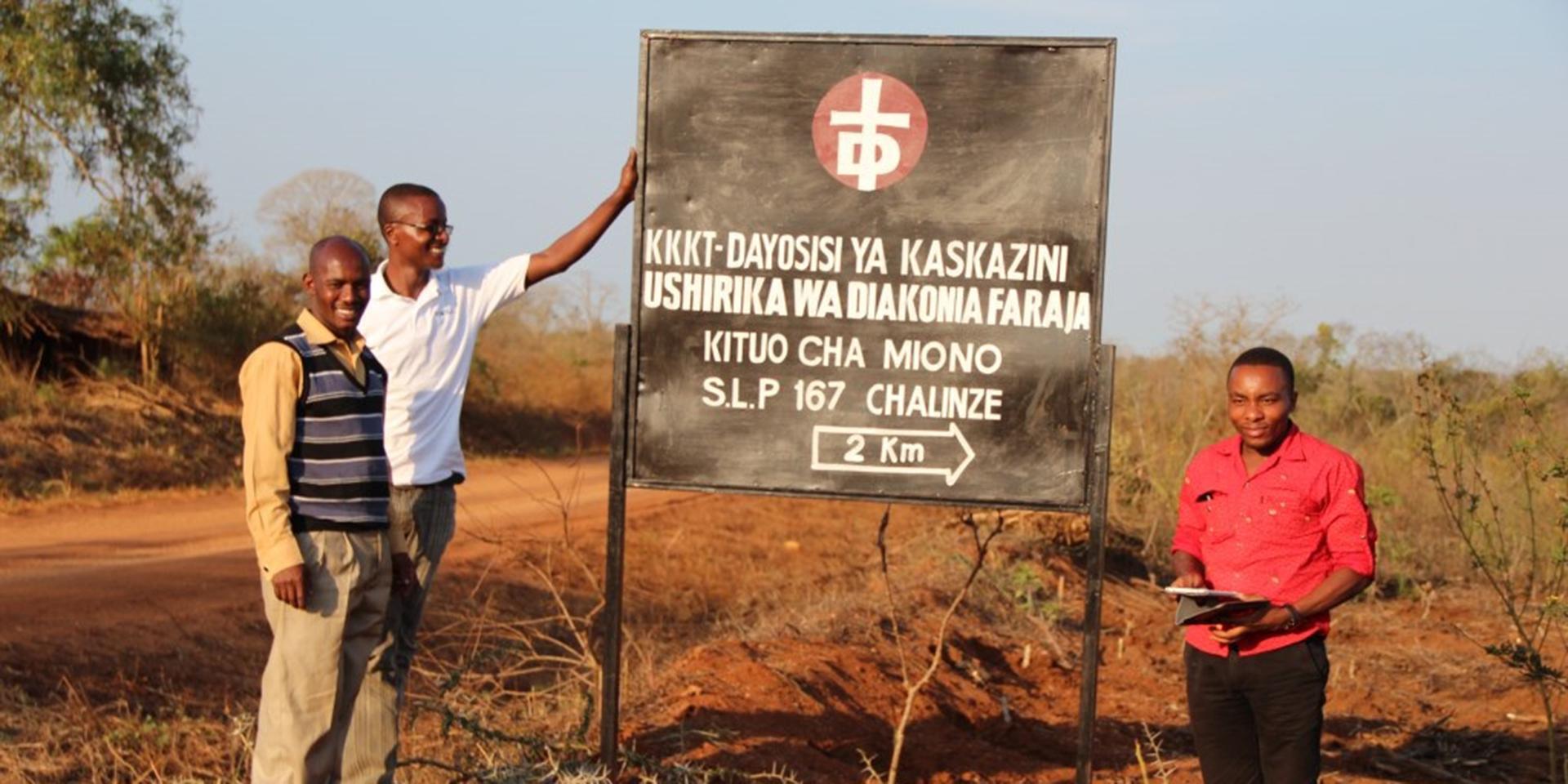 Schild zur Farm in Miono Tansania