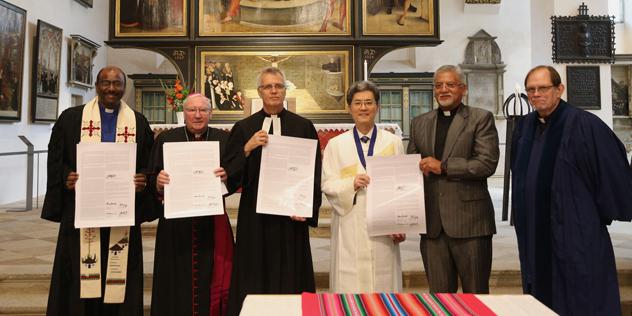 Unterzeichnung der Gemeinsamen Erklärung zur Rechtfertigungslehre 2017 in Wittenberg