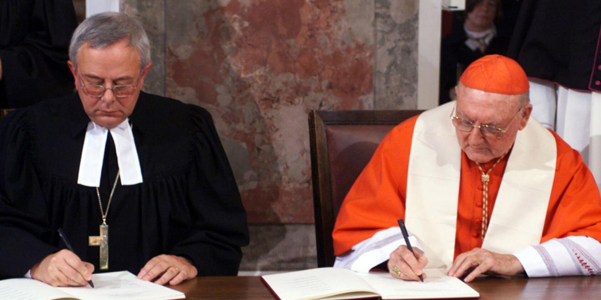 Unterzeichnung der Gemeinsame Erklärung zur Rechtfertigungslehre