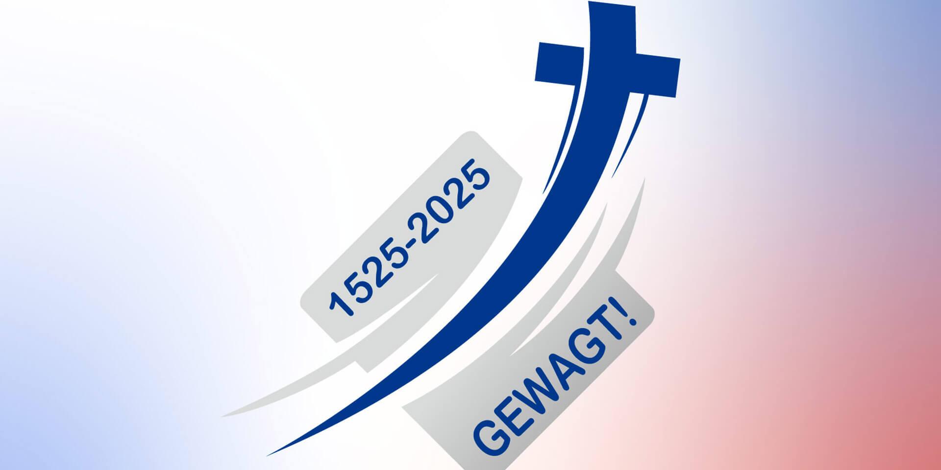 Logo Täuferbewegung 1525 - 2025 gewagt